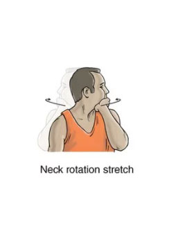 neck rotation stretch exercise for neck spasm rehabilitation