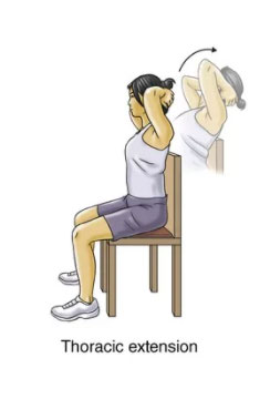 thoracic extension exercise for neck spasm rehabilitation