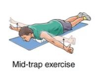mid-trap exercise for upper back strain rehabilitation