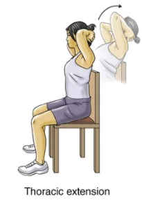 thoracic extension exercise for upper back strain rehabilitation