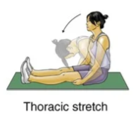thoracic stretch exercise for upper back strain rehabilitation