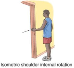 Isometric shoukder internal rotation