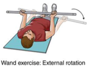 wand exercise with external rotation