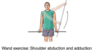 wand exercise with shoulder abduction and adduction