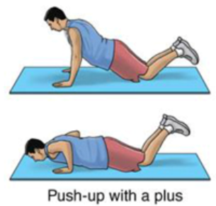 push-up with a plus